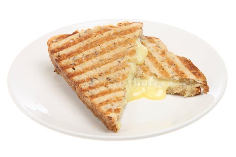 干酪被按的三明治多士 库存图片