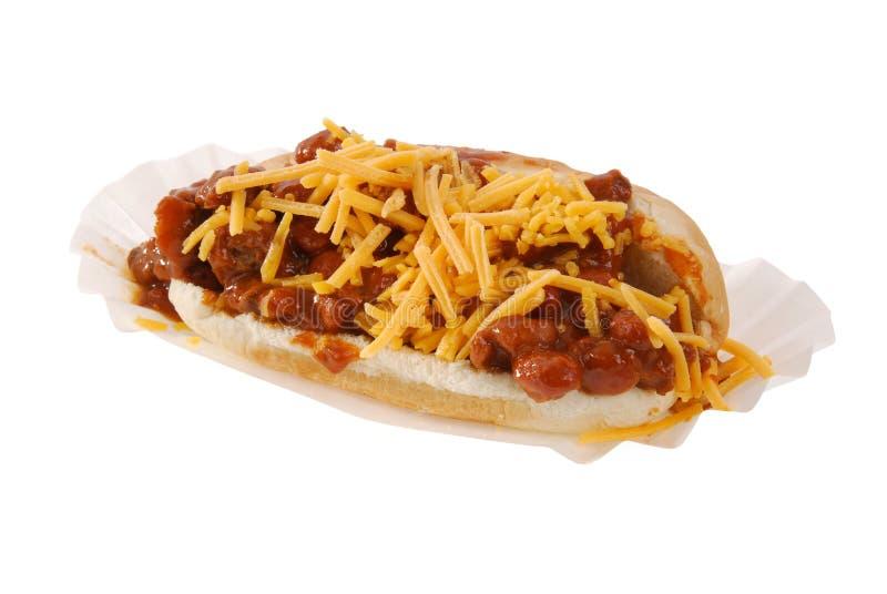 干酪辣味热狗 库存图片
