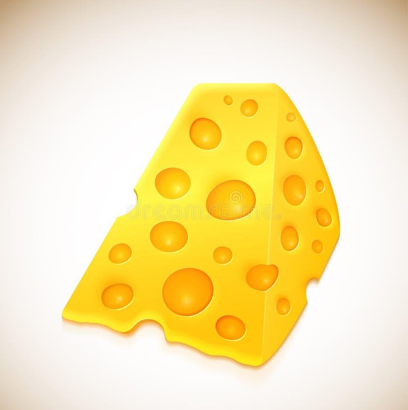 干酪部分  库存例证