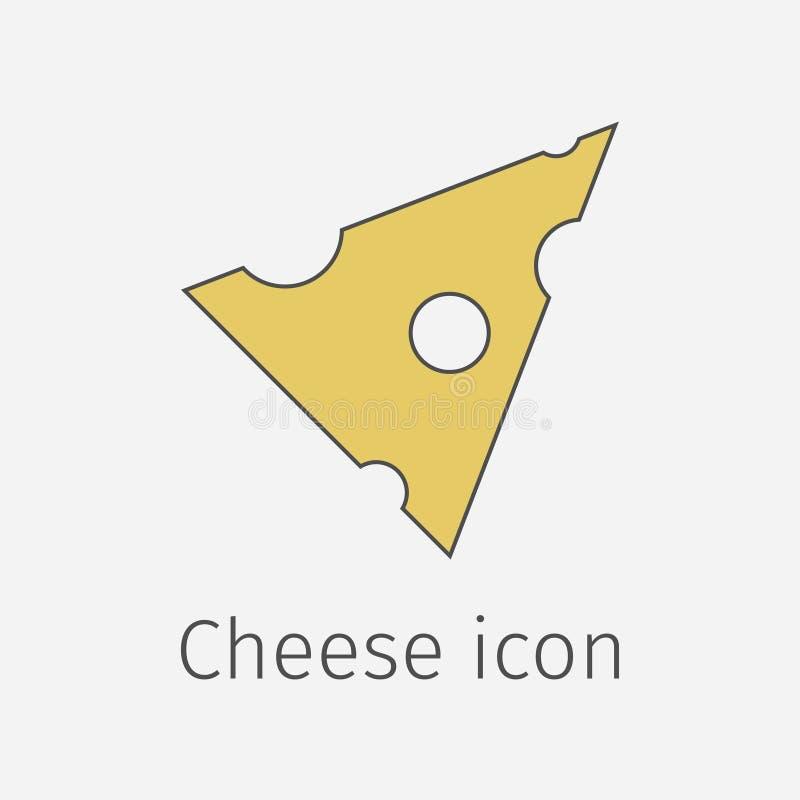 干酪部分 向量例证
