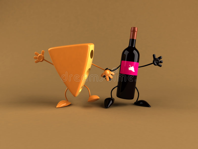 干酪酒 皇族释放例证