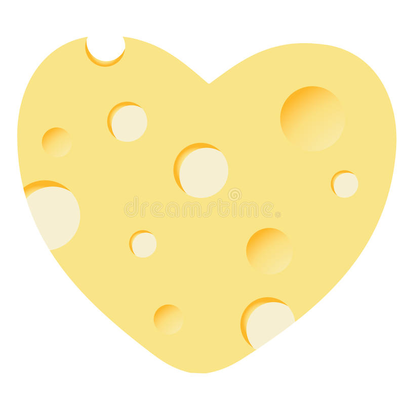 干酪重点例证 库存例证