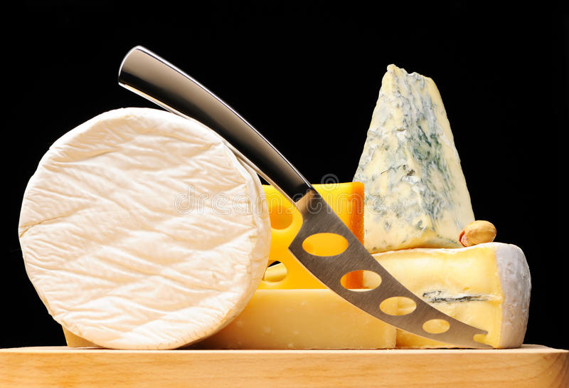 干酪键入多种 库存图片
