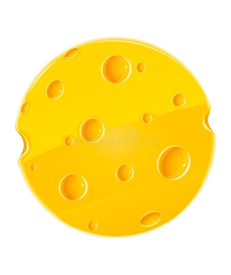 干酪食物查出的部分向量白色 库存例证