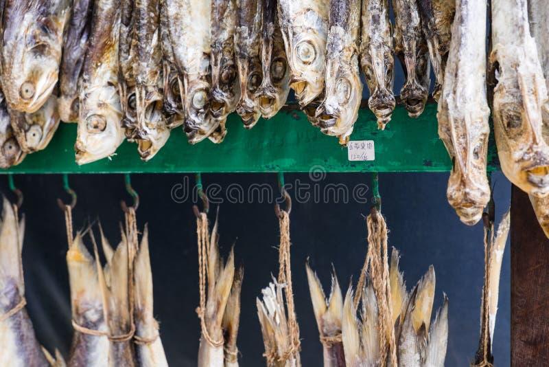 干鱼在市场上 图库摄影