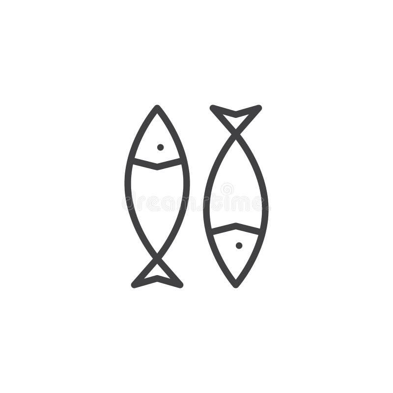 干鱼概述象 向量例证
