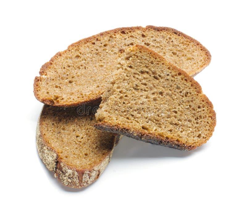 干黑面包切片 库存照片