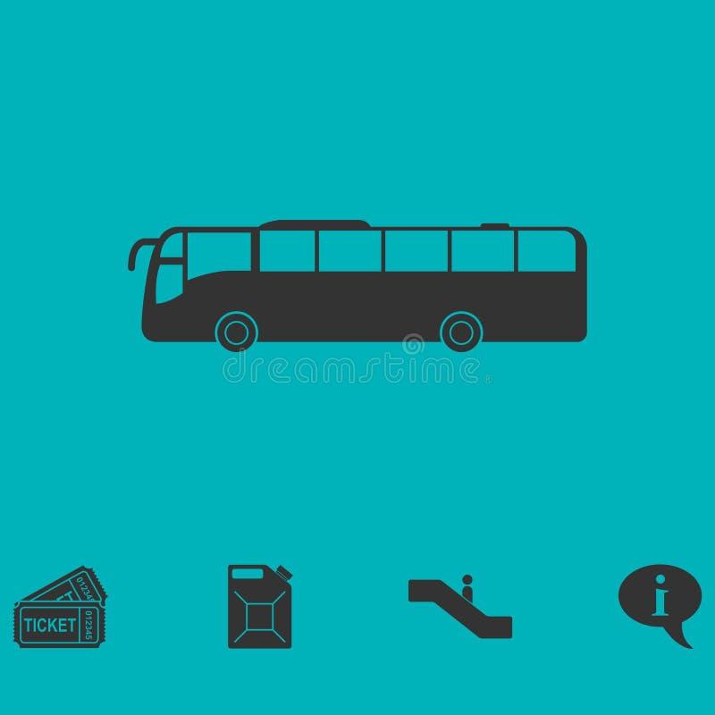 平公共汽车的象 库存例证