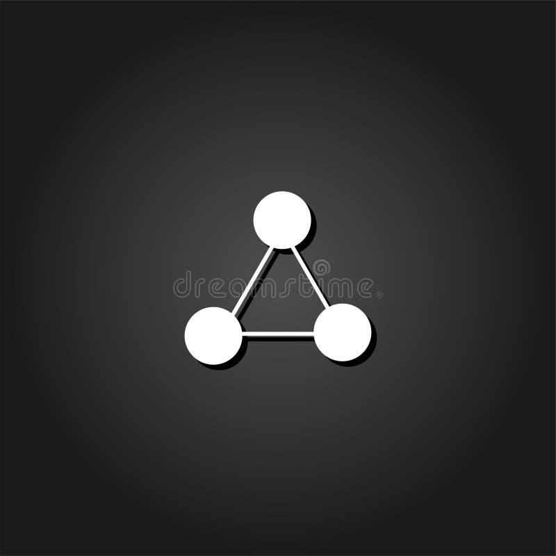 平分子的象 向量例证