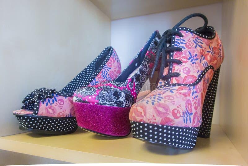 平台鞋子 图库摄影