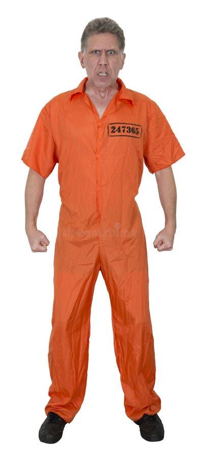 平均恼怒的囚犯弯曲处夜贼查出 免版税库存照片