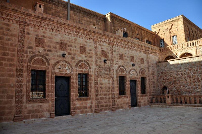 平均观测距离加布里埃莱正统修道院在的在土耳其东南部 免版税库存照片