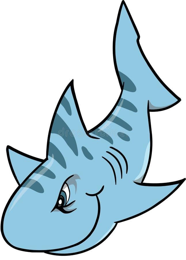 平均鲨鱼向量 库存例证