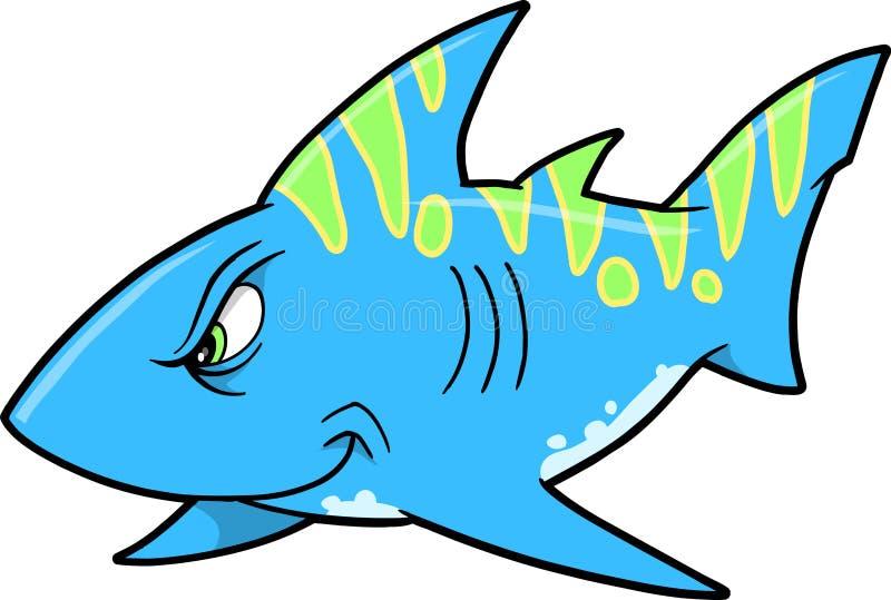 平均鲨鱼向量 皇族释放例证
