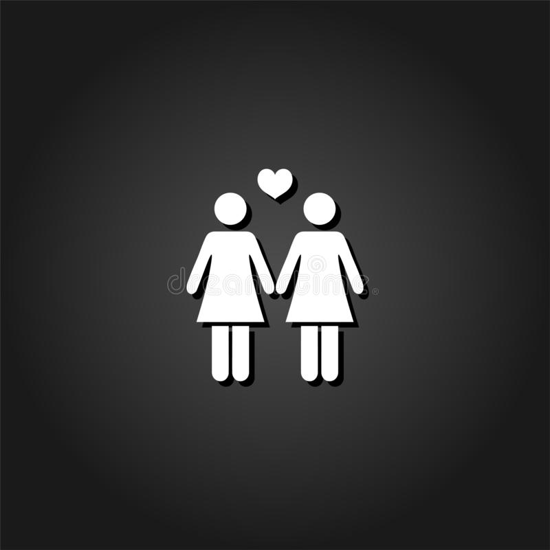 平女同性恋的象 皇族释放例证