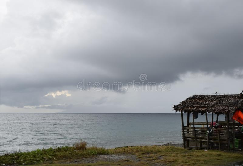 平安的岸 库存照片