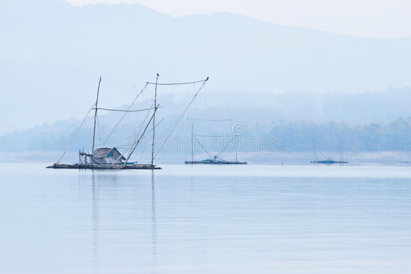 平安的河沿 免版税库存照片