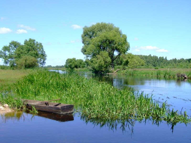 平安的河 库存图片