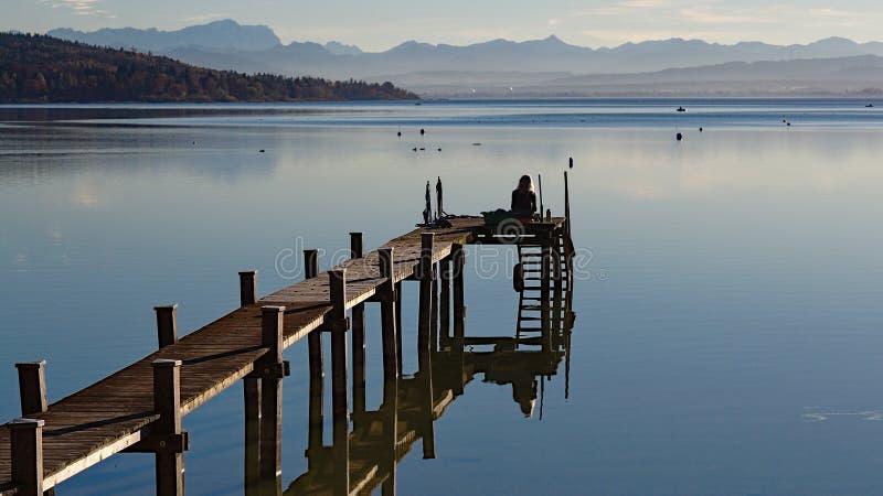 平安的湖阿莫尔 免版税库存图片
