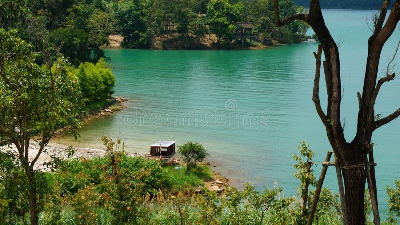 平安的湖 库存图片
