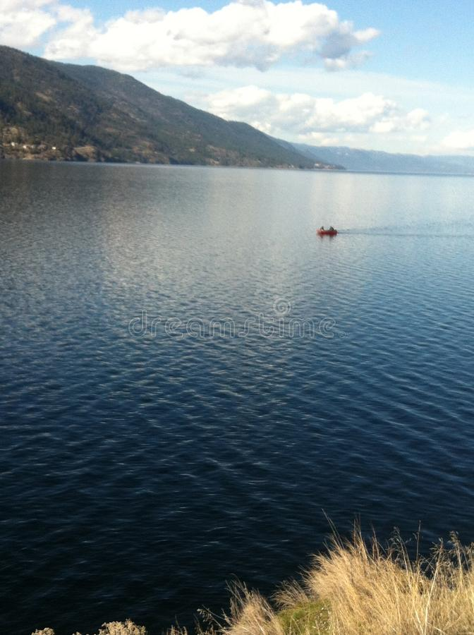 平安的湖 免版税图库摄影