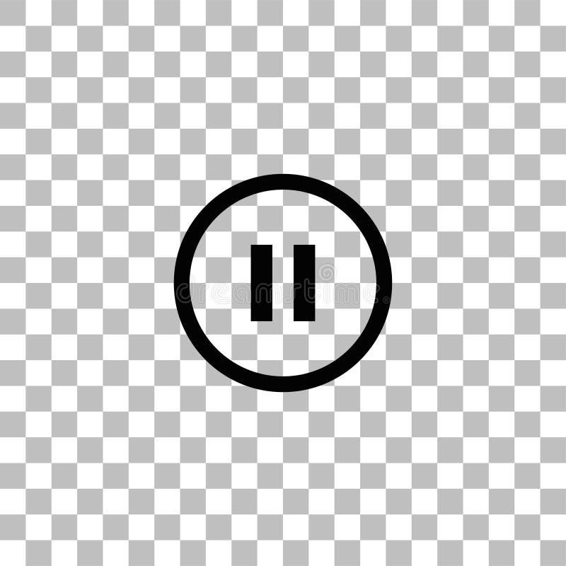 平展停止按钮象 向量例证