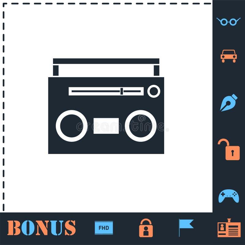 平展卡式磁带播放机象 库存例证