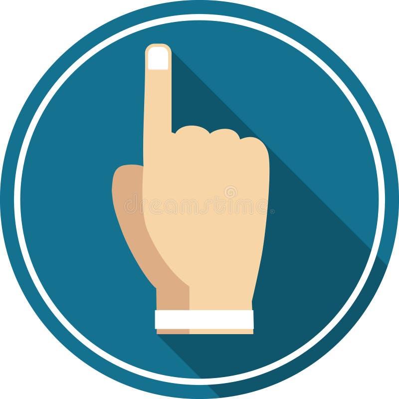 平展指向象的手 免版税图库摄影