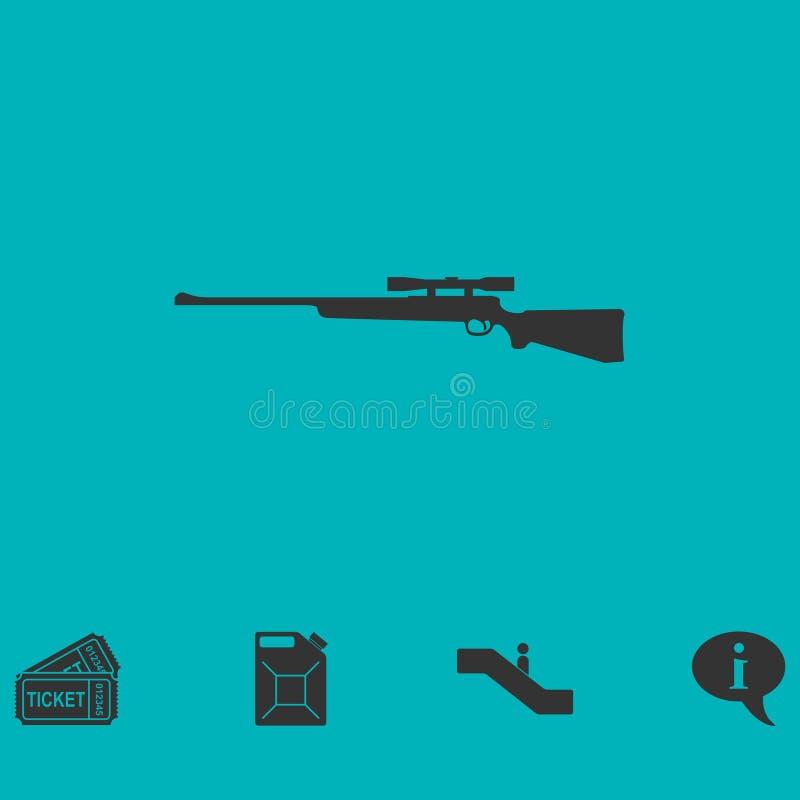 平展狙击步枪象 皇族释放例证
