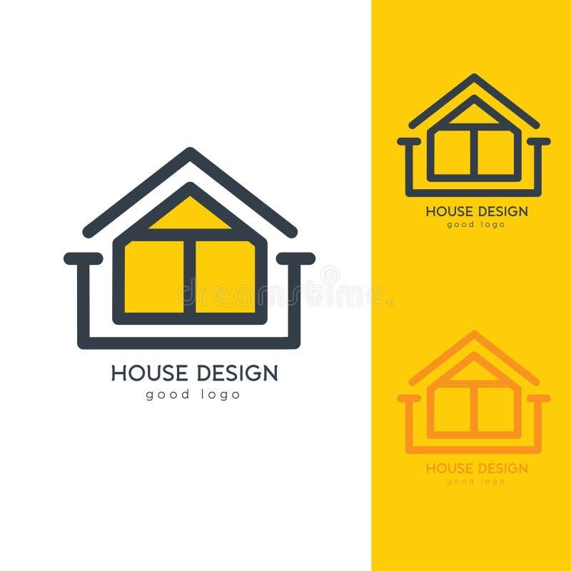 平展简单现代议院商标设计的模板 库存图片