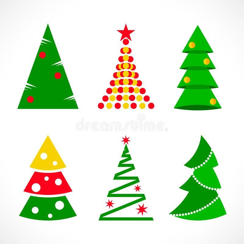 平展设置圣诞树 皇族释放例证