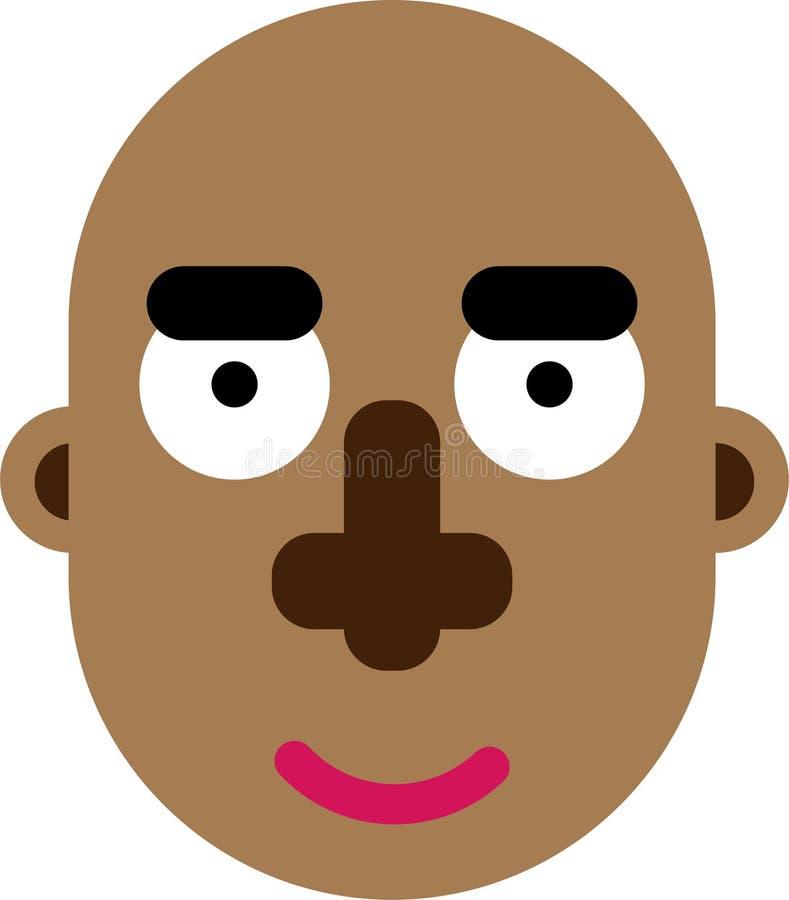 平展黑人面孔deaign 向量例证