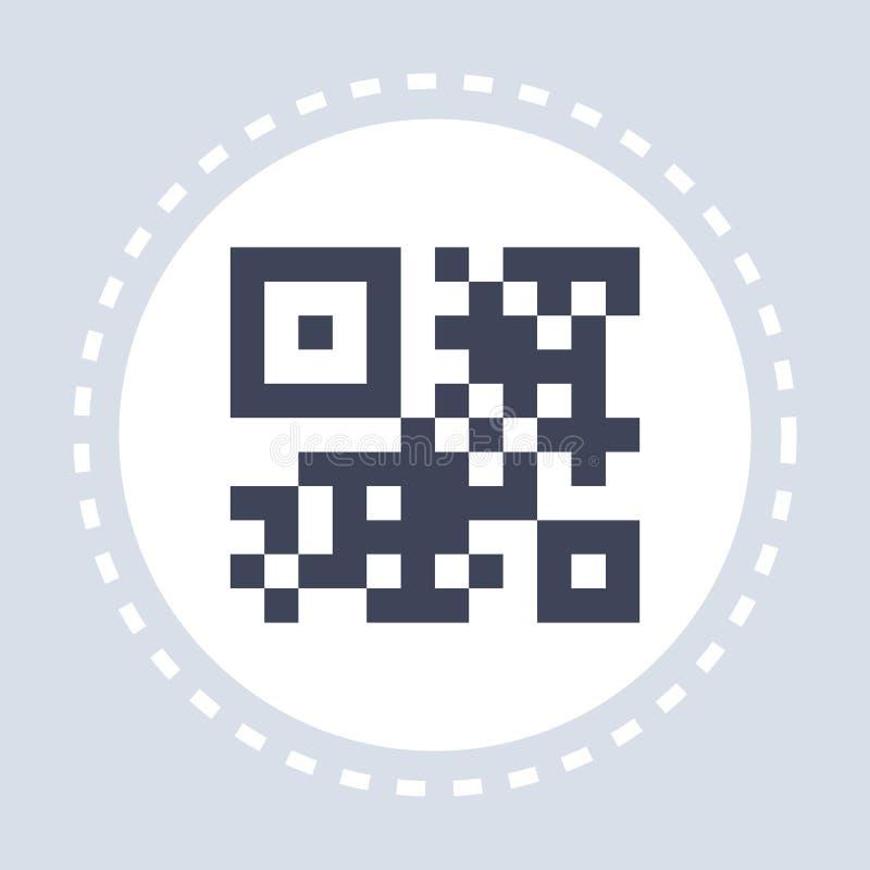 平展黑现实qr代码象购物概念 皇族释放例证