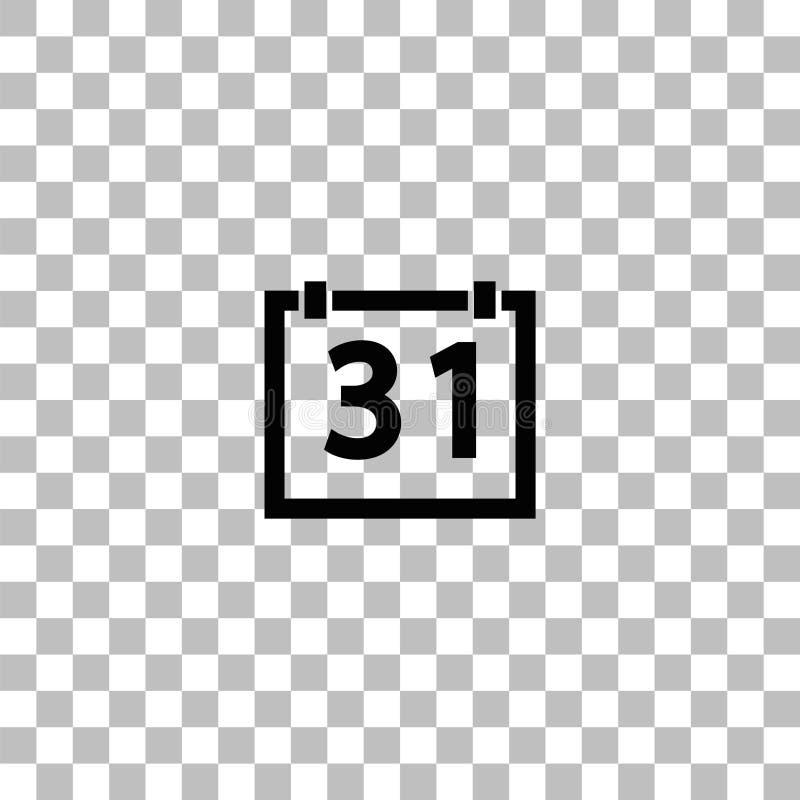 平展31个日历象 向量例证