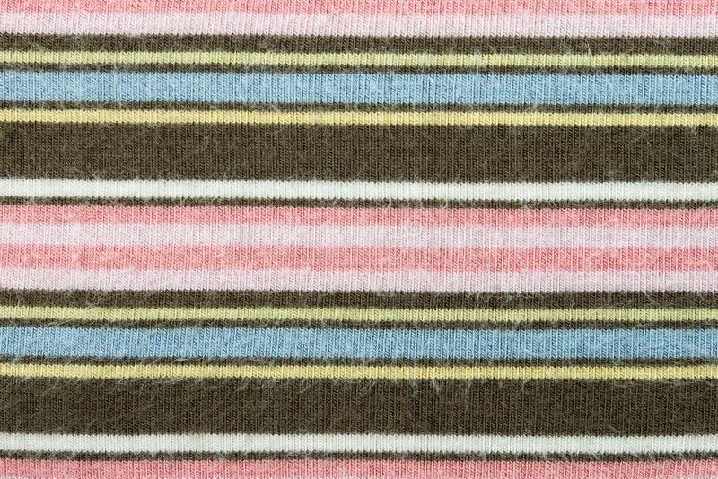 水平布朗桃红色编织或被编织的织品纹理样式 免版税图库摄影