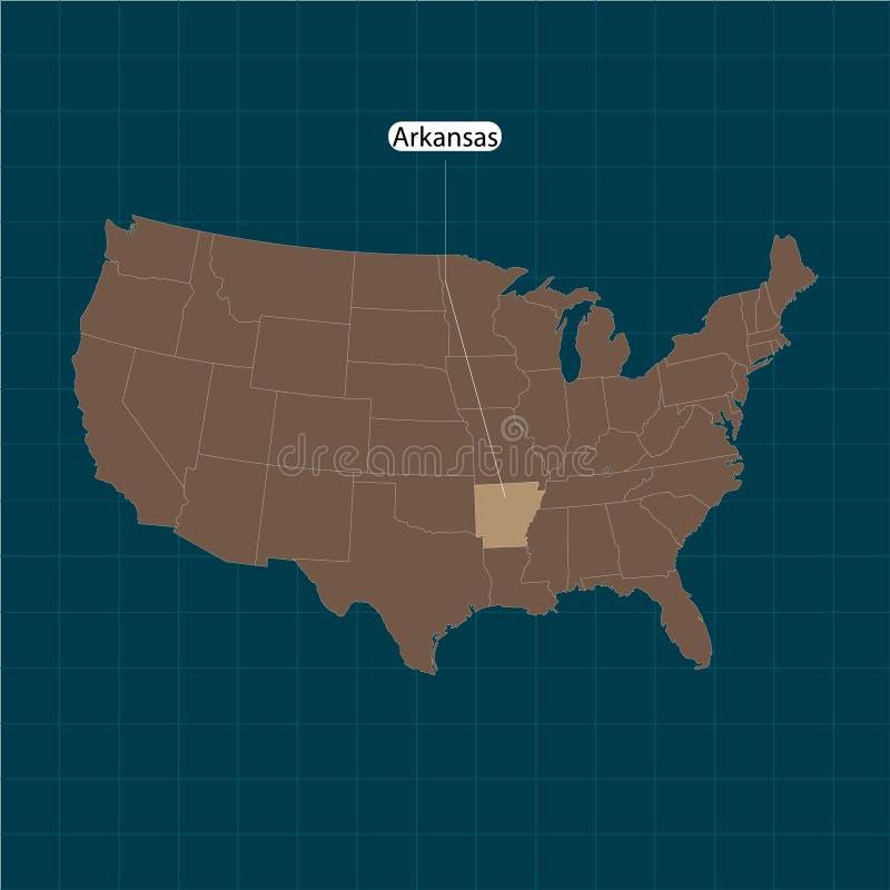 平底船 美国疆土状态黑暗的背景的 分立的国家 也corel凹道例证向量 库存例证