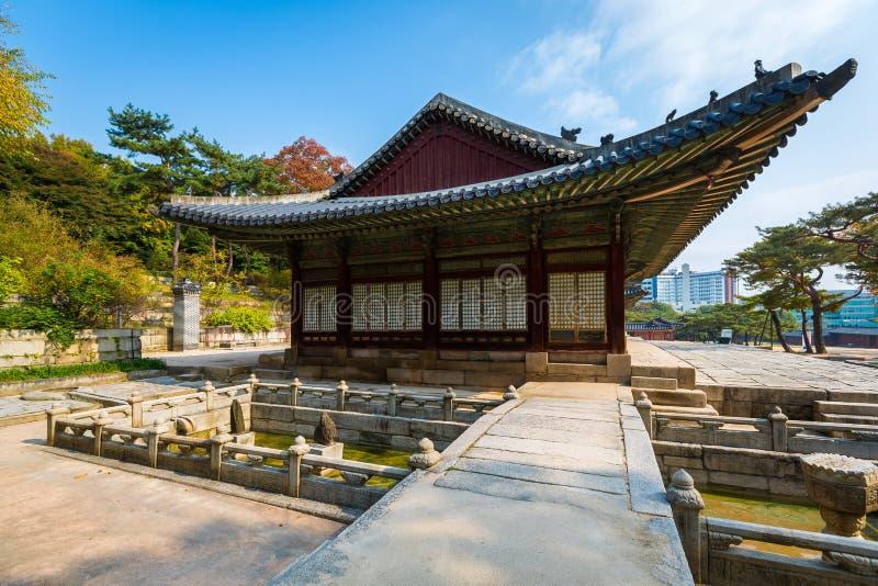 平底船Changgyeonggung宫殿,汉城,韩国 图库摄影