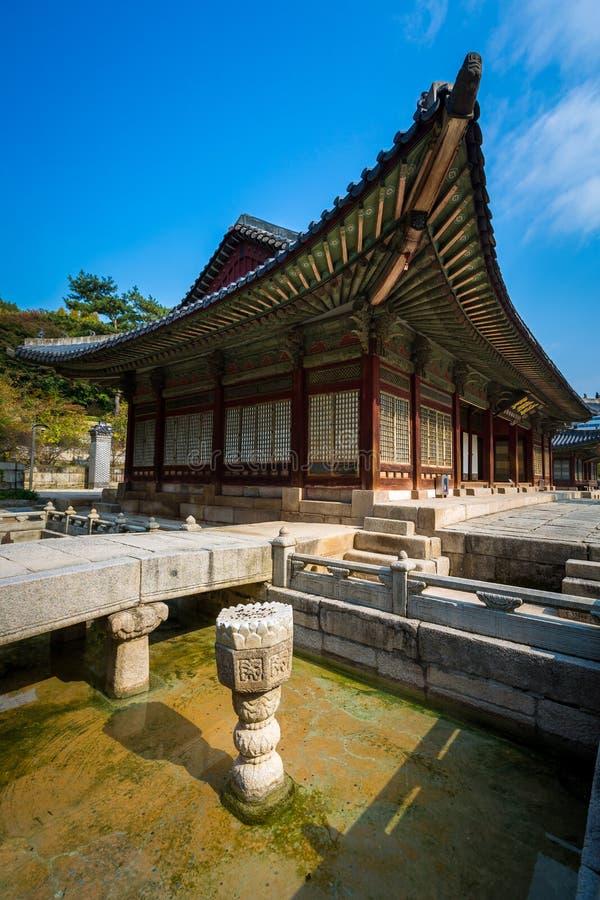 平底船Changgyeonggung宫殿,汉城,韩国 库存照片