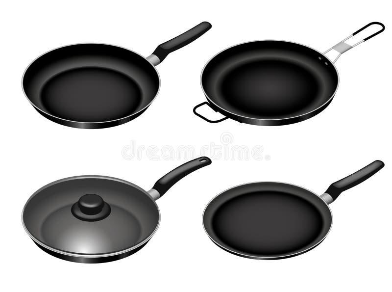 平板炉厨师天象集合,等量样式 向量例证
