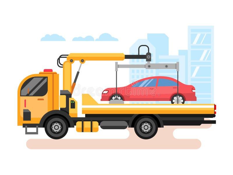 平汽车的抽空装置 向量例证