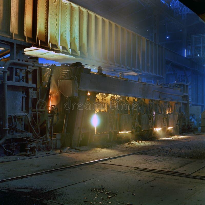 平炉钢熔炉 库存照片