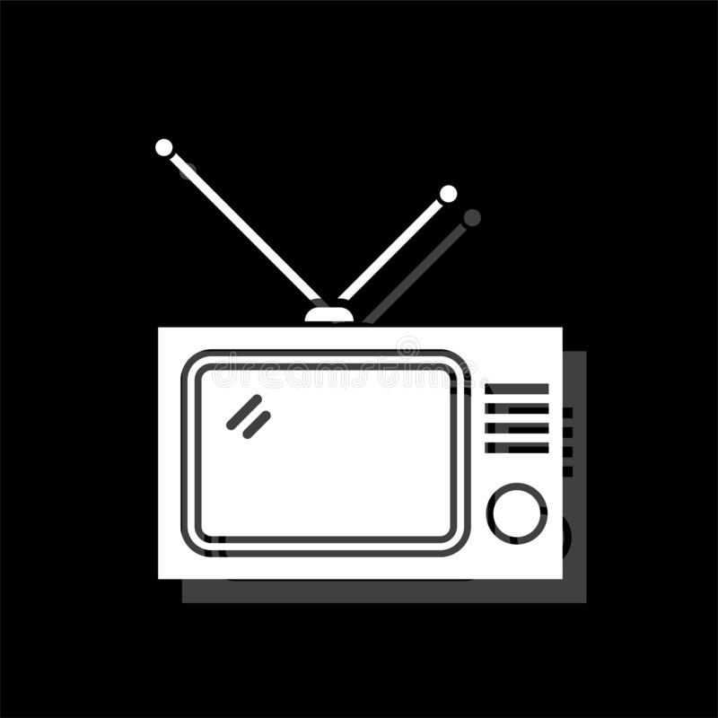 平电视的象 向量例证