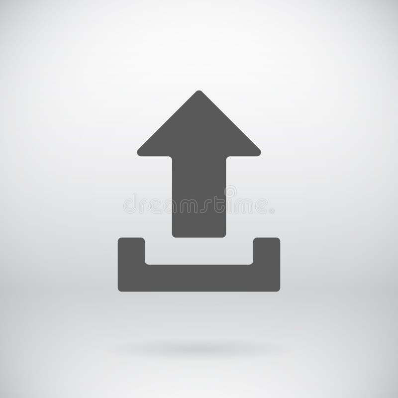 平的下载加载象传染媒介装载标志 向量例证