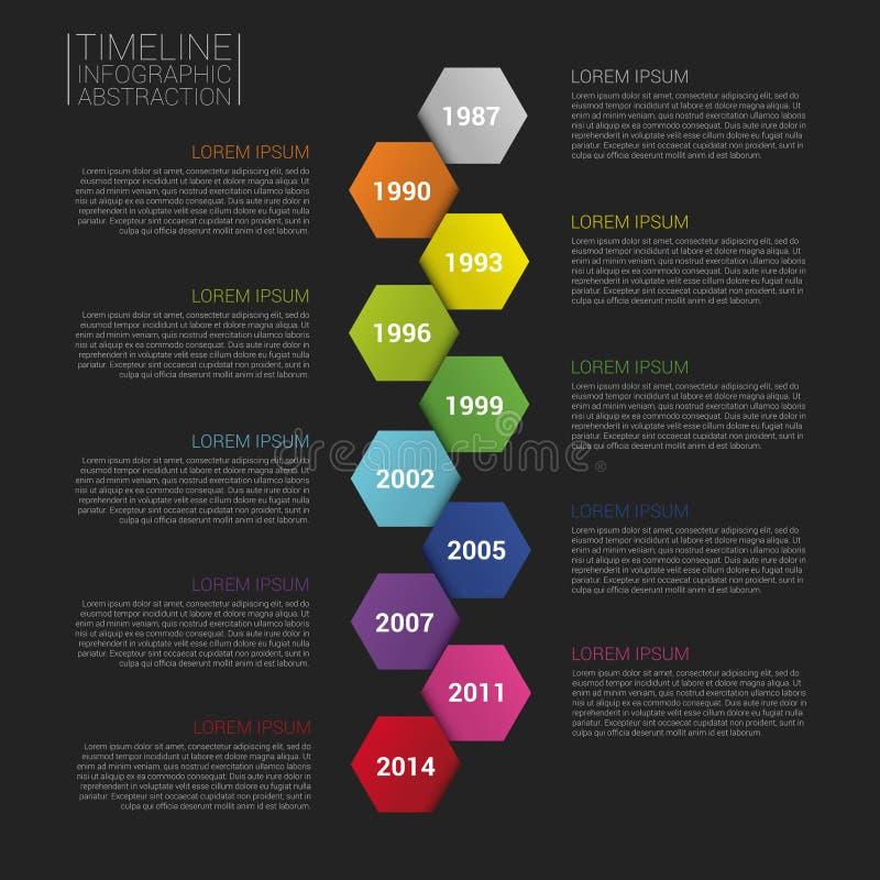 平的五颜六色的抽象时间安排infographics传染媒介例证 皇族释放例证