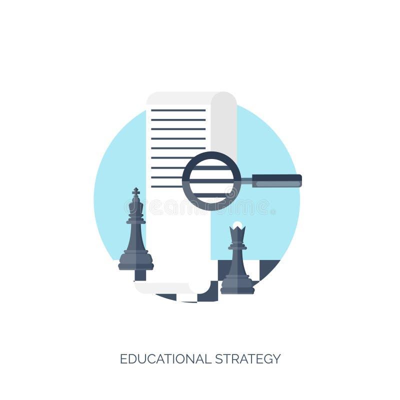 平的传染媒介例证 研究和学会概念背景 远程教育、突发的灵感和知识成长 库存例证