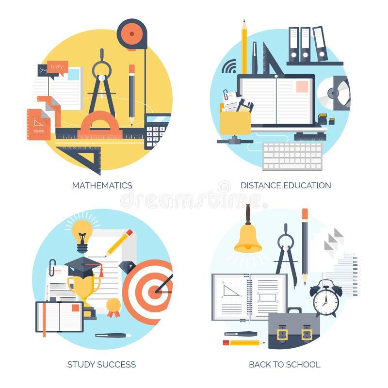 平的传染媒介例证 研究,学会概念背景 远程教育和网上课程,突发的灵感 皇族释放例证