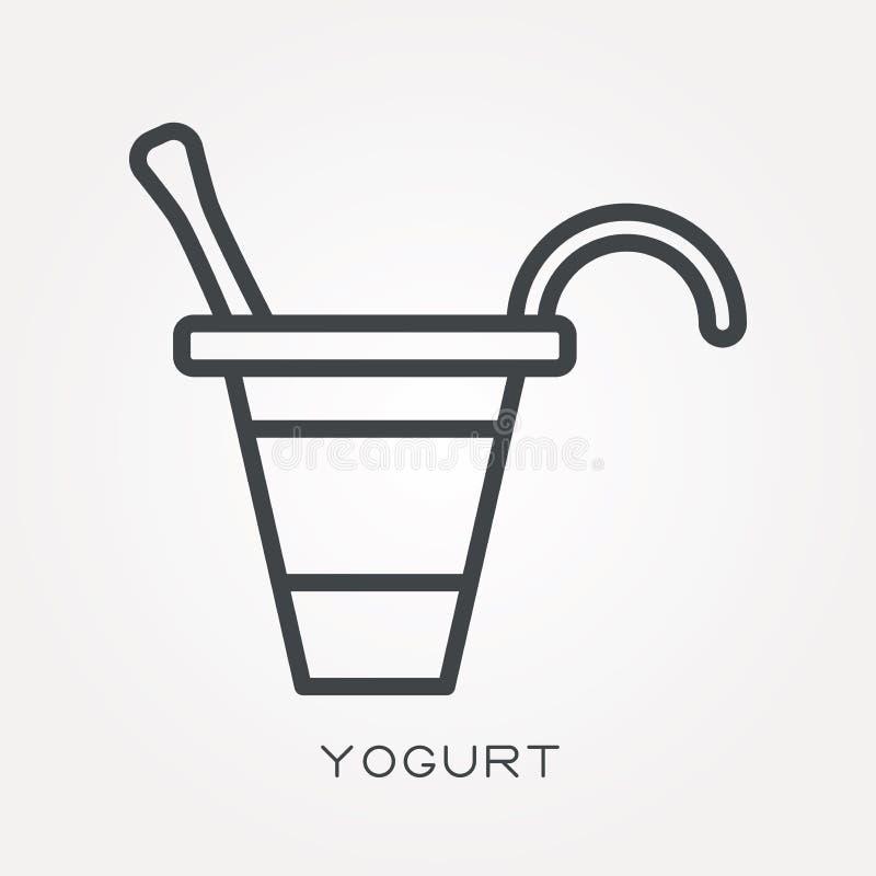 平的传染媒介象用酸奶 皇族释放例证
