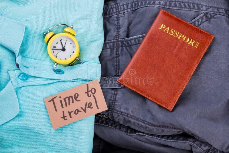 平的位置时间旅行概念 免版税库存照片