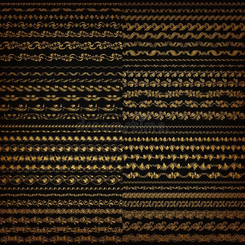 水平的元素装饰传染媒介 皇族释放例证
