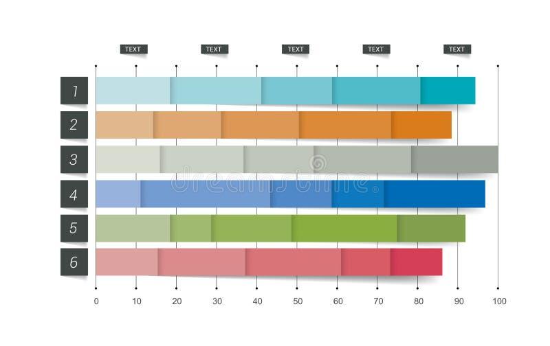 平的图,图表 编辑可能的颜色 向量例证